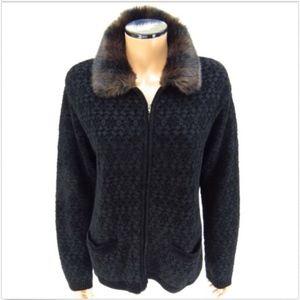JONES NEW YORK SPORT Chenille Zipper Jacket M